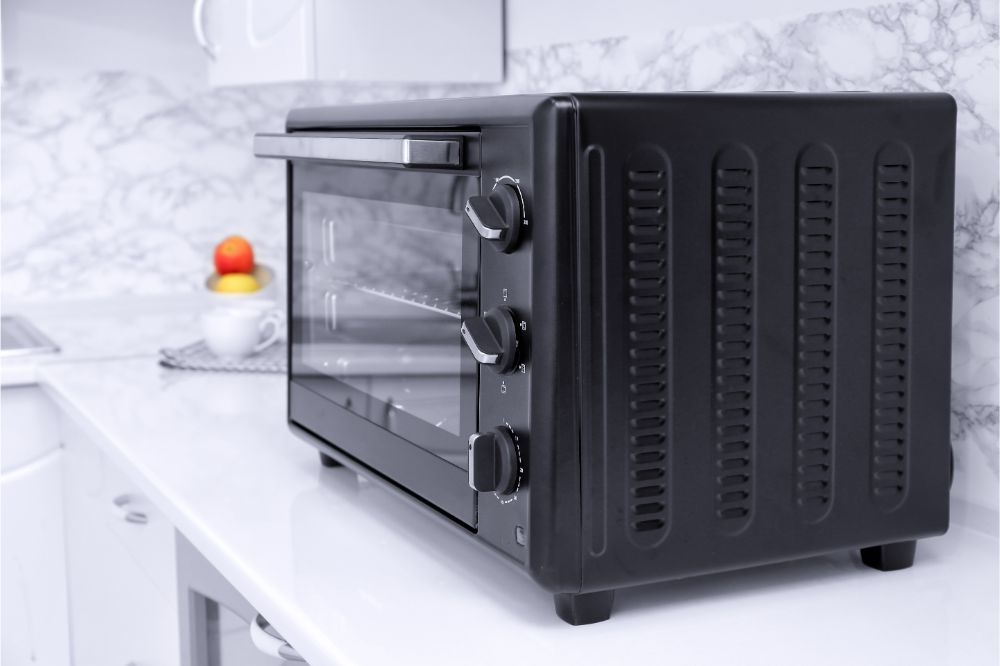 convection oven on a kitchen table top